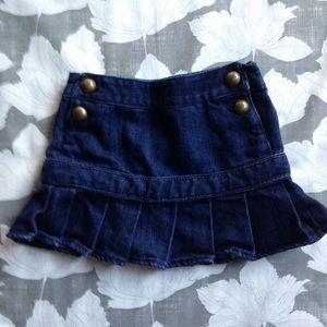 Baby Gap denim sailor style pleated jean skirt 3t