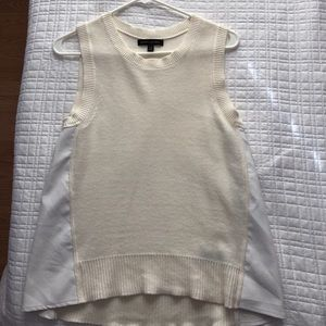 Banana Republic sleeveless ivory sweater