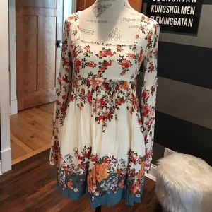 Flowered Free People babydoll dress