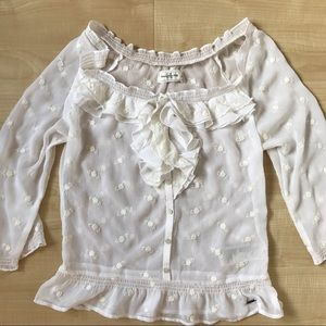 Abercrombie & Finch floral ruffle blouse