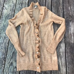 J. Crew  Mohair and wool blend delicate cardigan