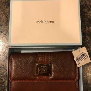 NWT Liz Claiborne Brown Wallet