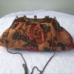 JNS Vintage Style Beaded Purse