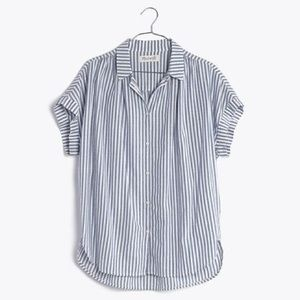 {Madewell} central shirt in chambray stripe