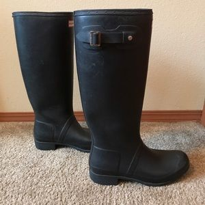 Hunter Boots Matte Black Tall