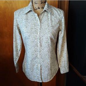 NWOT Vintage GAP Floral Print Button Down Shirt