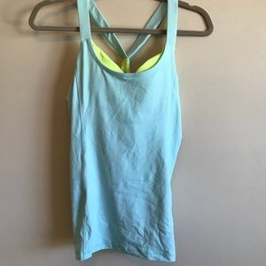 Workout padded athletic top