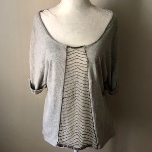 Free people intricate embellishment top size XS
