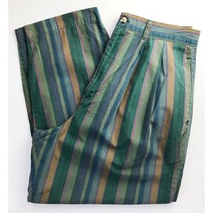 Vintage 90s Gap Striped High Waisted Pleated pants