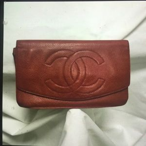 Chanel caviar wallet clutch