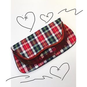 Vintage Plaid Clutch