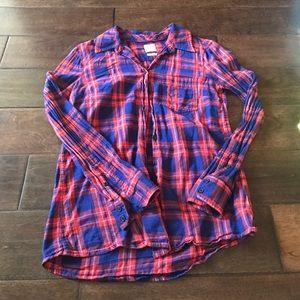 Gap fitted boyfriend flannel