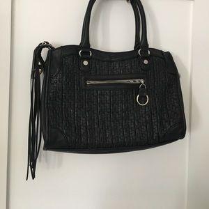 STEVE MADDEN bag w/ tassels & basketweave pattern