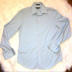 Men's EXPRESS Modern striped dress button up shirt
