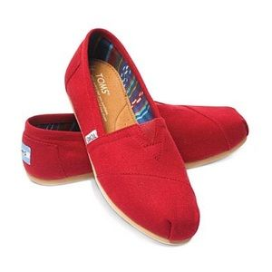 TOMS red shoes in PERFECT condition!