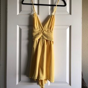 Yellow Romper with Waist Cutouts