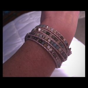 Genuine Chan Luu Wrap Stone Bracelet--like new!