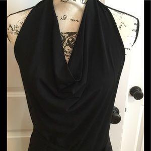 Max Mara black halter dress