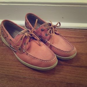 Sperry Topsider size 8 pink plaid