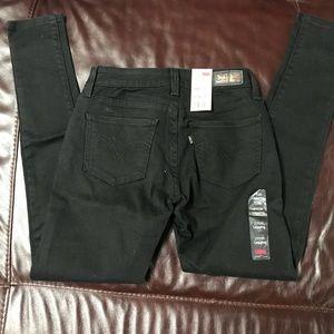 BNWT Levis 535 Legging Black Jeans 27x30