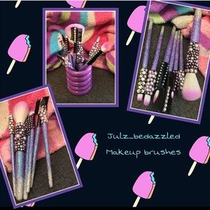 Bedazzled makeup brushes