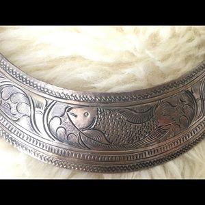 Ethnic Hmong vintage bib necklace