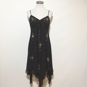 Sue Wong Nocturne Beaded Silk Cocktail Dress