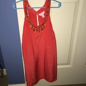 Lilly Pulitzer Coral Fashion Tank Top