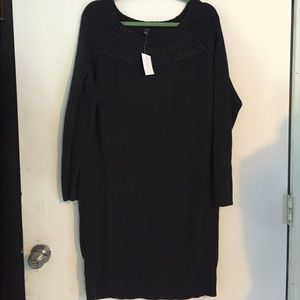Ann Taylor new gray sweater dress size XL