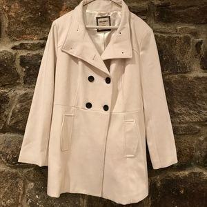 Old Navy White Pea Coat