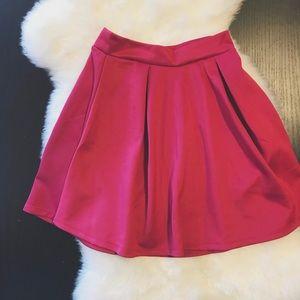 Charlotte Russe Pink Skater Skirt