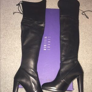 Stuart weitzman over the knee leather boot