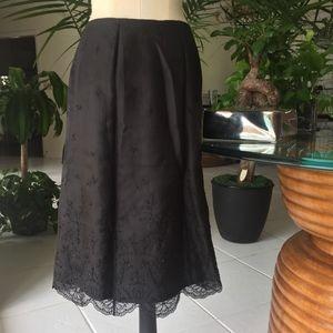 Ann Taylor embroider / beaded detail black skirt