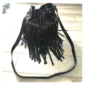 FOREVER 21 tassel cross body purse