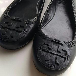 🎀Tory Burch Black Whipstitched Flats, Sz 7🎀
