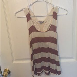 Red and cream striped tank