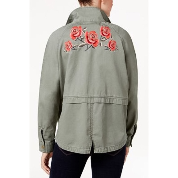 Style & Co Jackets & Coats - Style & Co Embroidered Utility Jacket