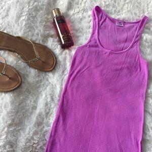 🆕 PINK VS: Ribbed Lavender Tank