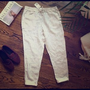 Striped Linen pants by H&M