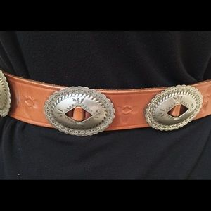 Accessories - CDG Concho Leather Belt Western Boho