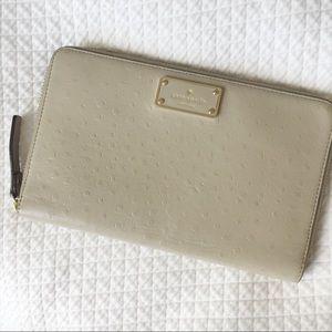 Kate Spade a la vita Ostrich Zip Travel Wallet