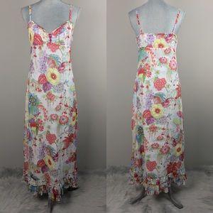 Anthropologie {Deletta} Floral Bird Maxi Dress