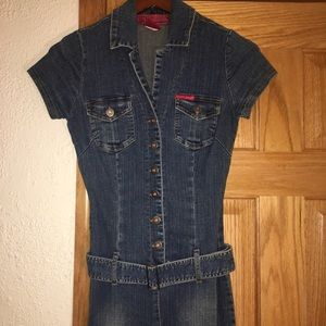 Button down jean romper from Hotkiss