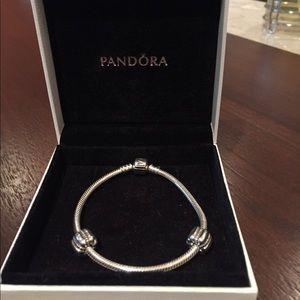 Pandora iconic silver charm bracelet