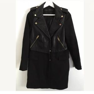 Zara women's biker trench