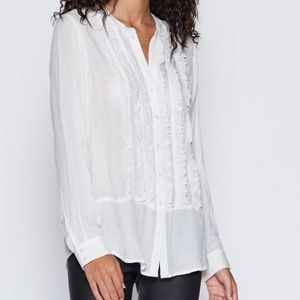 White Jeronioma Joie Tuxedo Top in Medium