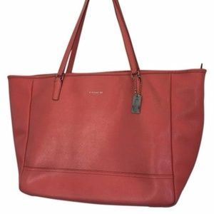 Coach XL Coral Saffiano Leather East West Tote