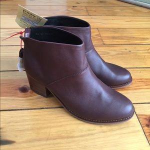 Toms Leila Leather Bootie Style Ankle Boots