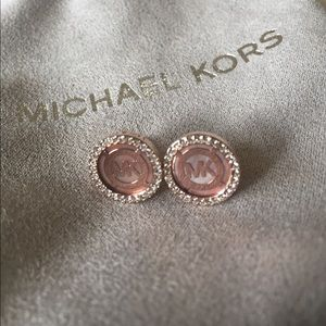 🌺NWT! MICHAEL KORS ROSE GOLD POST EARRINGS