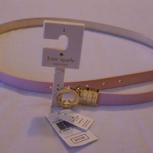 Kate Spade Size Large Pink & Gold Reversible Belt